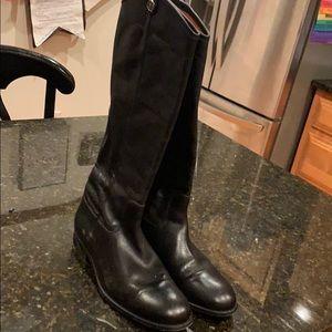 Frye Melissa button boots black size 10
